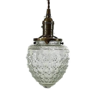Detailed Hanging Pendant Lamp with Glass Globe