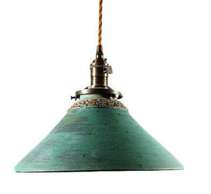 Green Patina Hanging Pendant Lamp