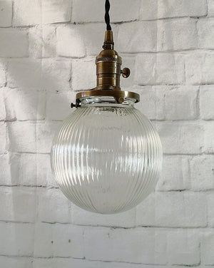 Hanging Vintage-Look Glass Globe Pendant Light