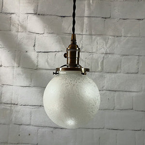Vintage Inspired Glass Globe Hanging Pendant Light