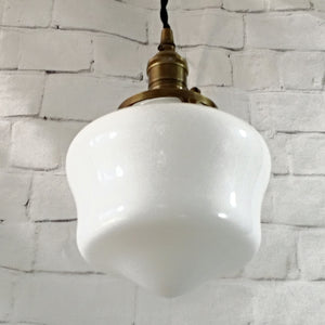 Schoolhouse Glass Globe Hanging Pendant Light