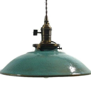 Turquoise Farmhouse Hanging Pendant Light