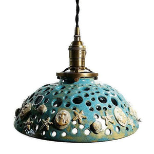Beach House Themed Pendant Light with Anchor Details