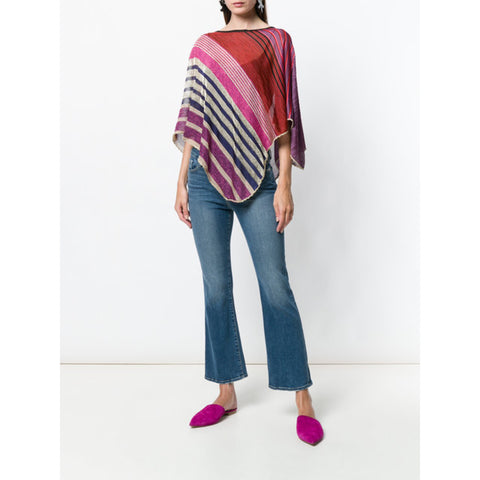 Missoni striped draped top