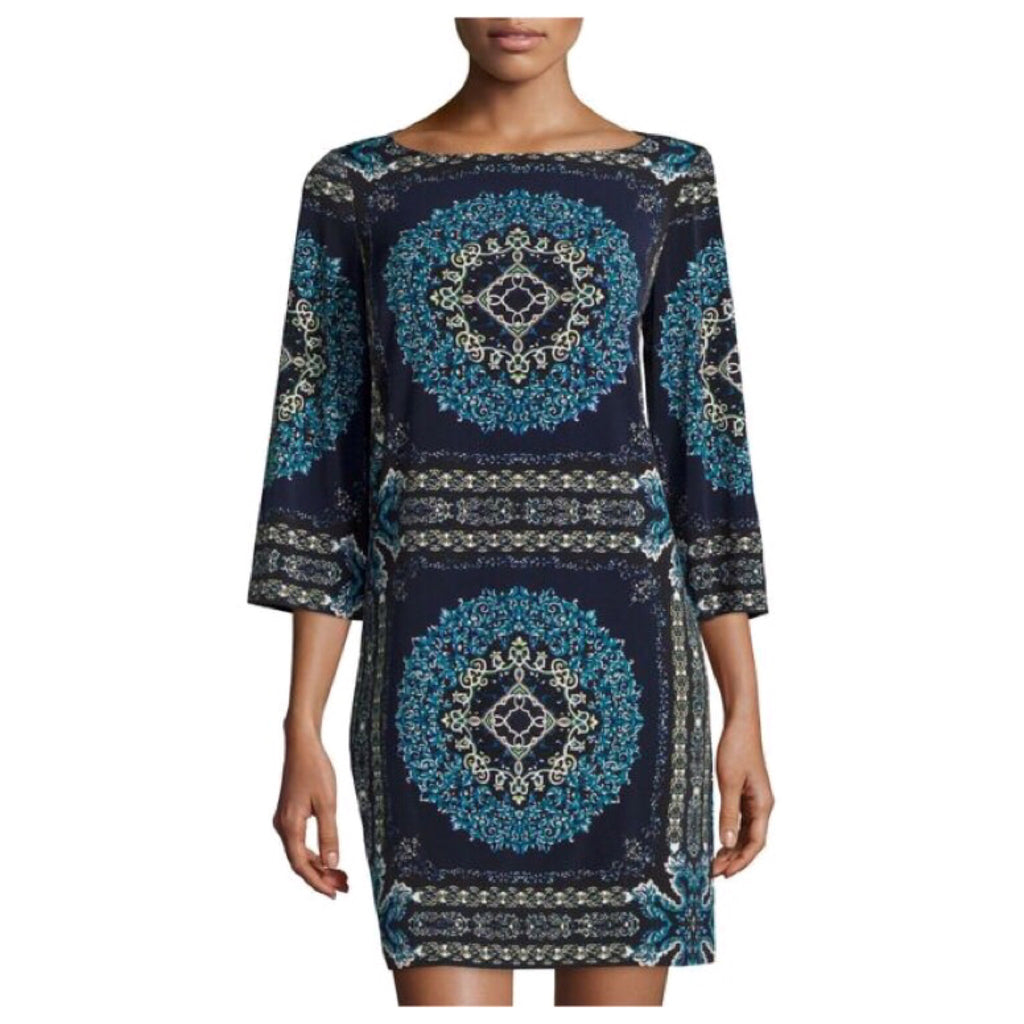 Laundry by Shelli Segal - Bell Sleeve Printed Jersey Dress