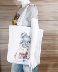 Wilow Canvas Flower Girl Tote