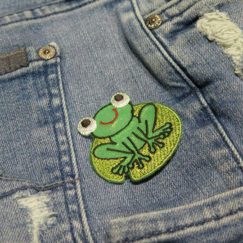 Froggy iron on patch