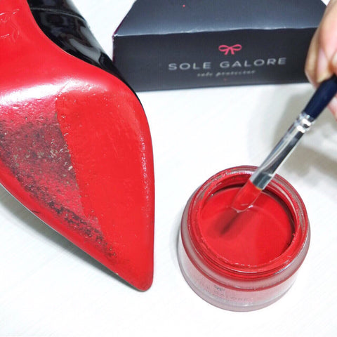 Red touch up sole paint