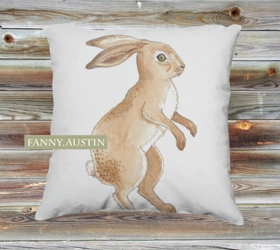 Hare Canvas Pillow Cover