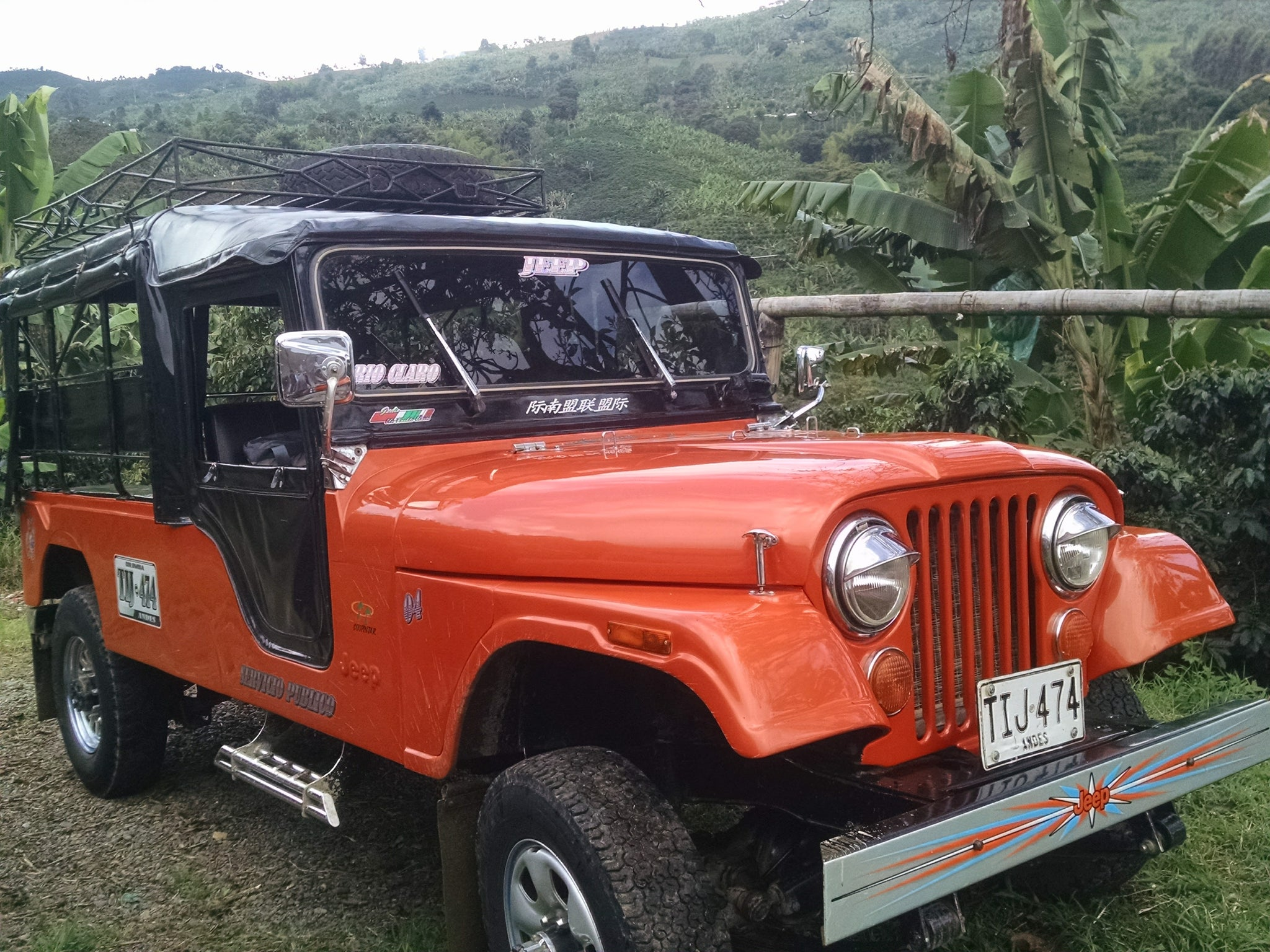 Costa Rica Coffee Farm Jeep