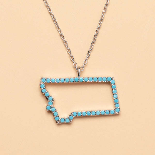 Montana On My Mind Necklace in Silver