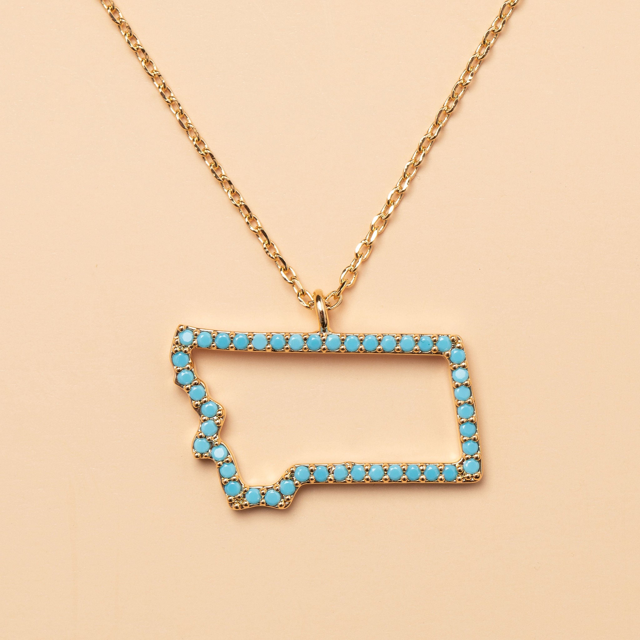 Montana On My Mind Necklace in Gold