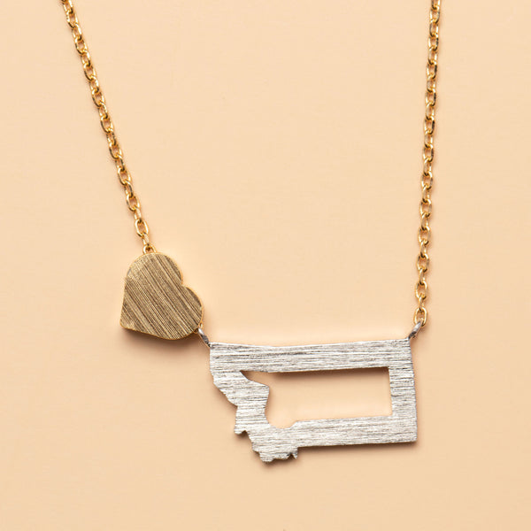 Land That I Love Necklace in Gold