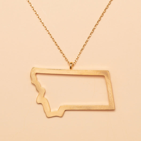 Last Best Place Necklace in Gold
