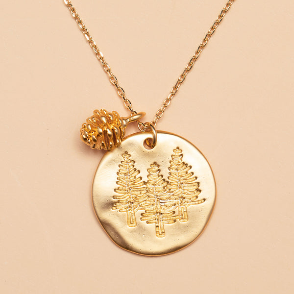 Mountain Vibes Necklace in Gold