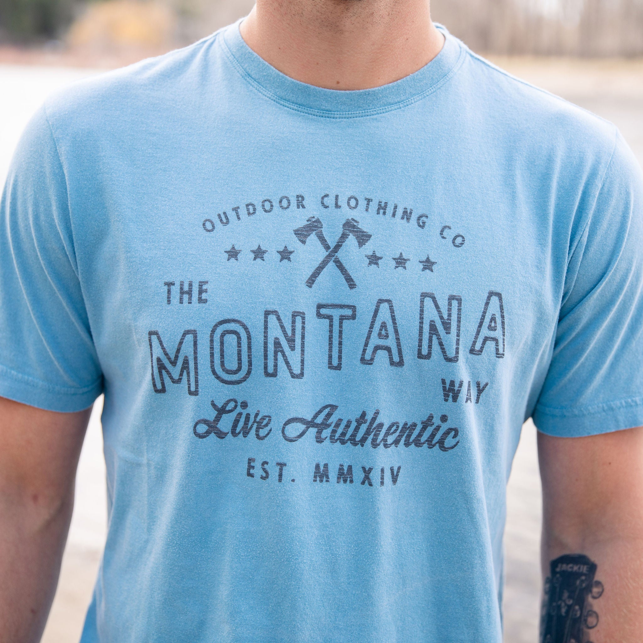 Est. MMXIV Vintage Tee in Bay Blue