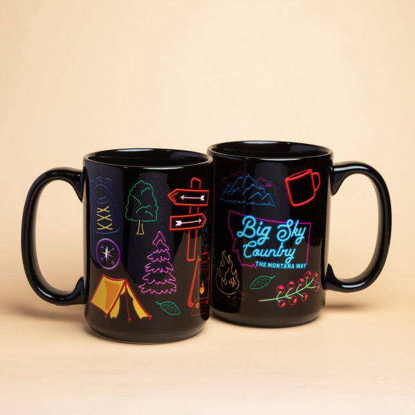 Big Sky Neon Mighty Mug in Black
