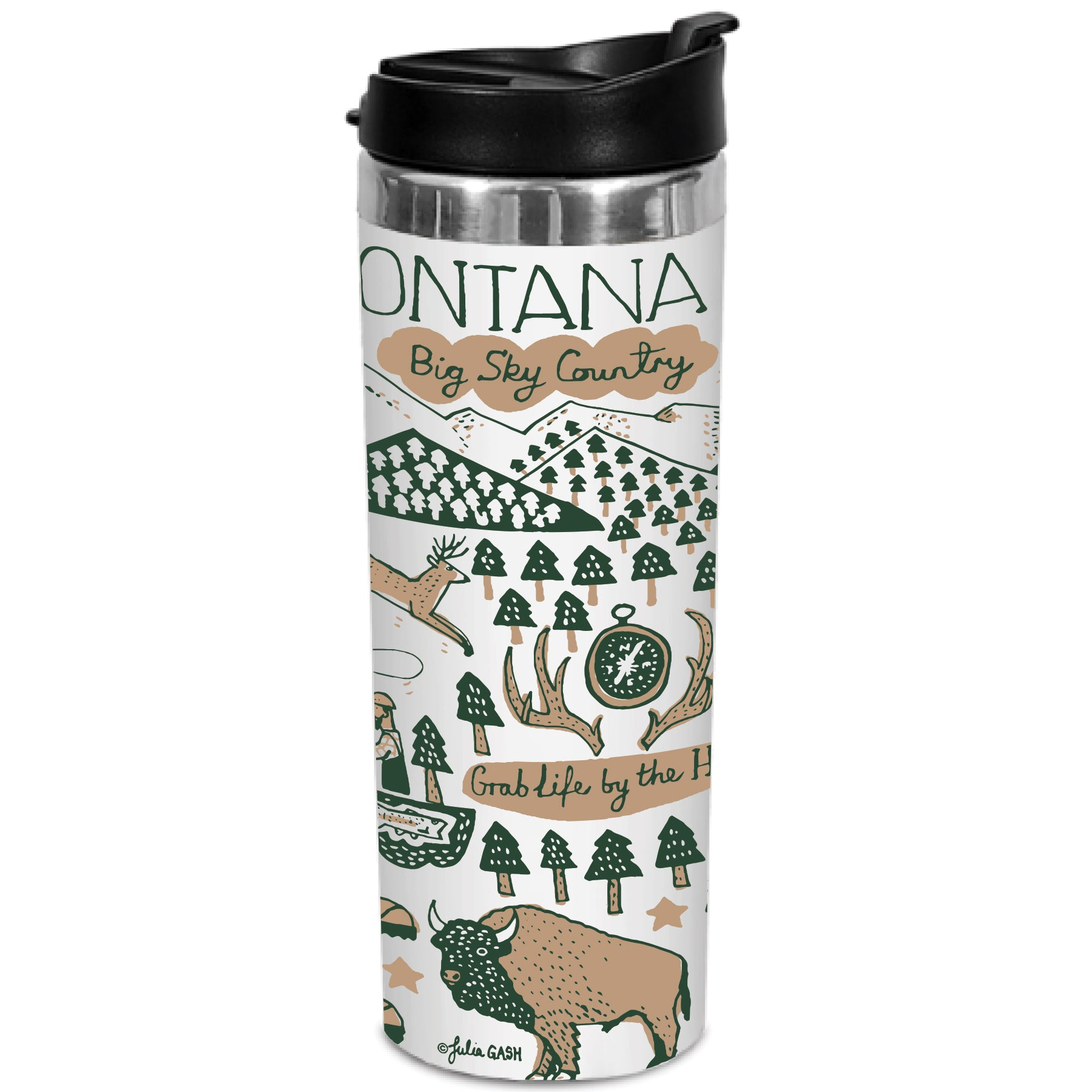 It's a Montana Thing Stainless Tumbler in White