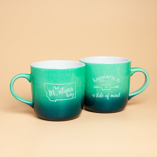 Wide Open Spaces Mug in Blue Ombre