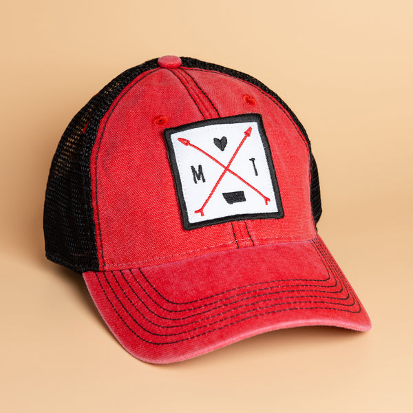 Montana Love Trucker in Red/Black