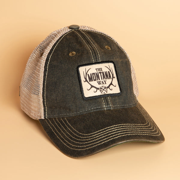 The Logo Trucker Hat in Black/Khaki