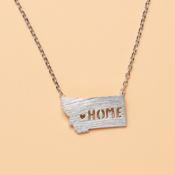All Hearts Go Home Necklace in Silver