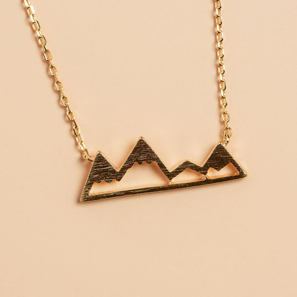 Not All Who Wander Are Lost Necklace in Gold