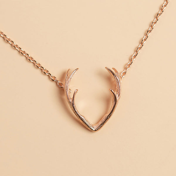 Grab Life By The Horns Necklace in Gold