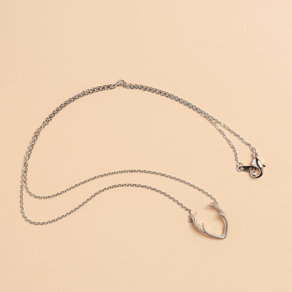 Grab Life By The Horns Necklace in Silver