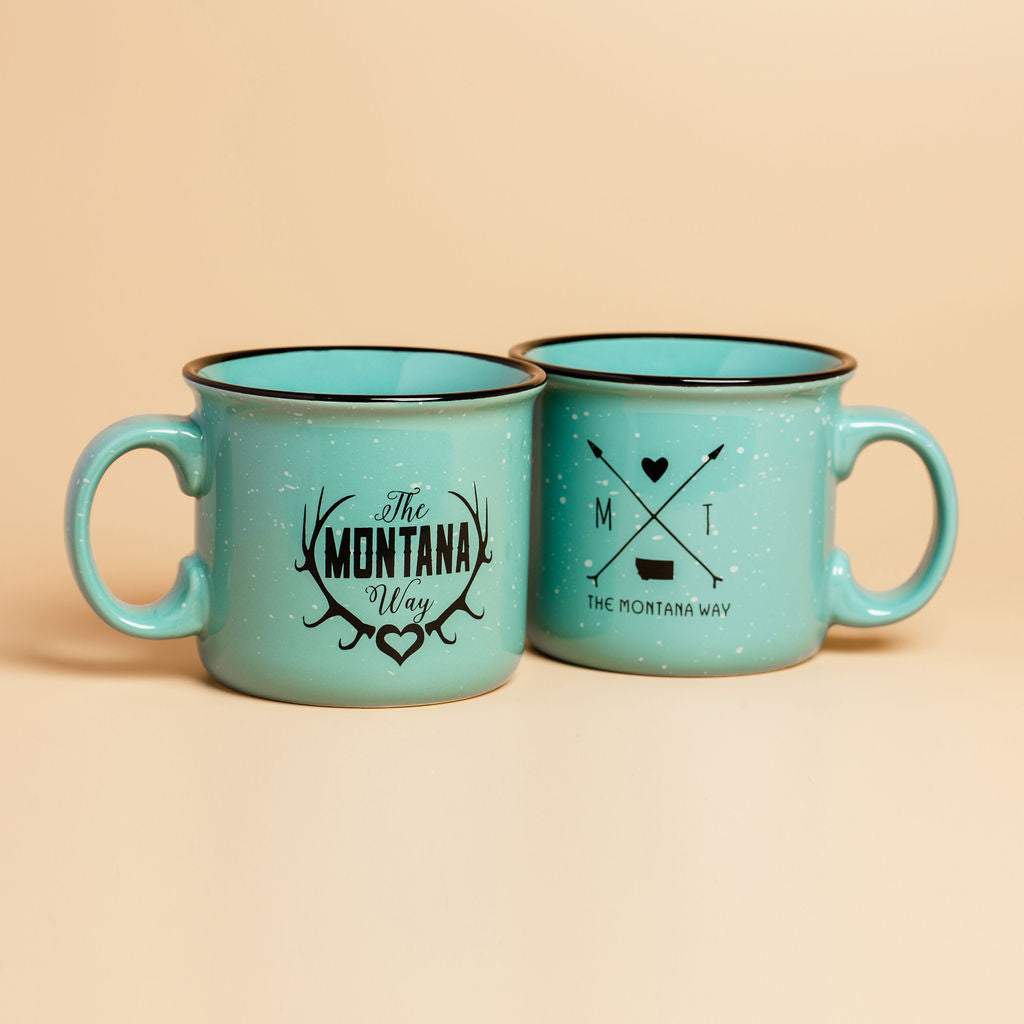 Cozy In Montana Camp Mug in Mint