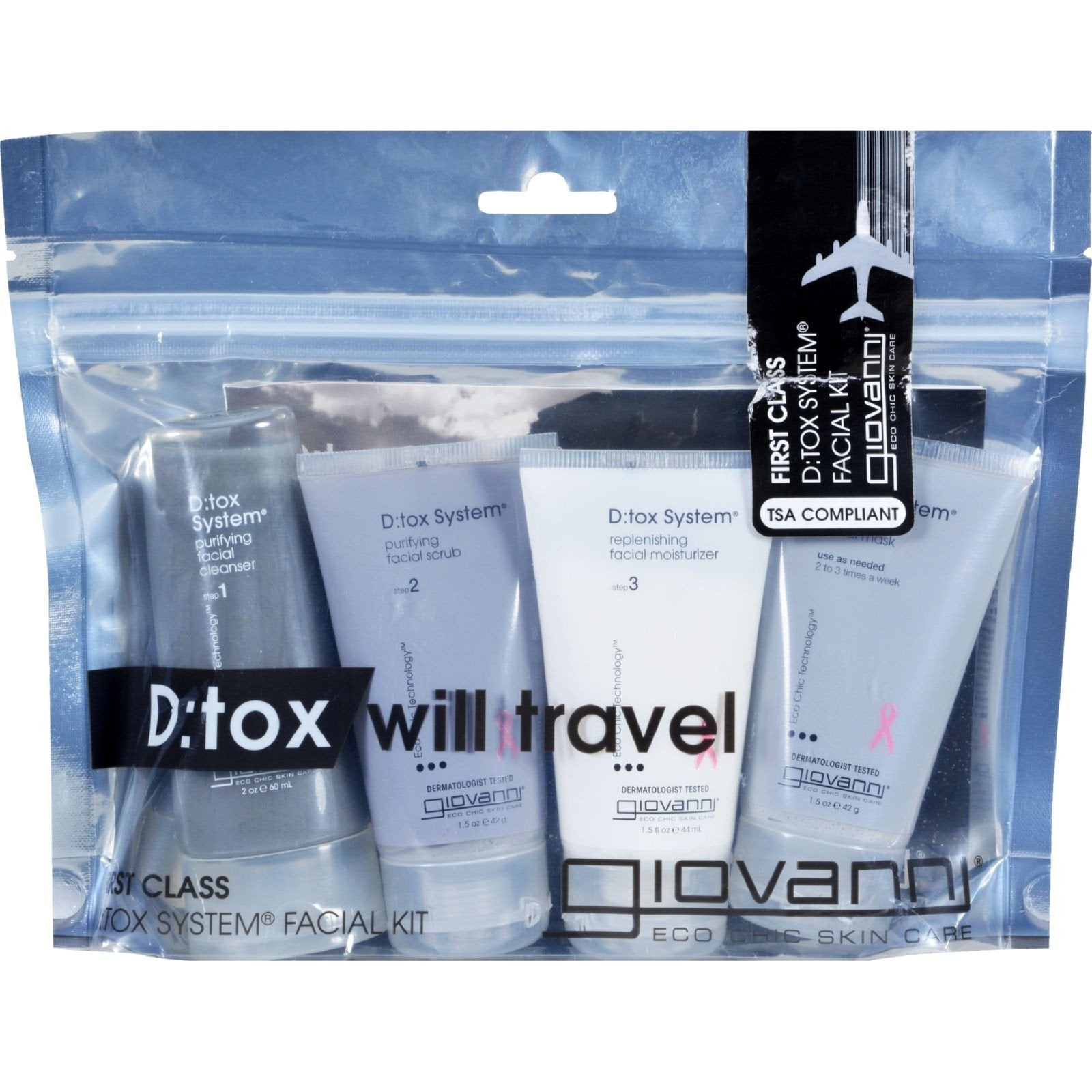 Giovanni Hair Care Products DeTox System Travel Kit