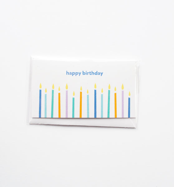 Birthday Candles mini card