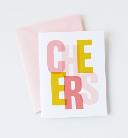 Cheers greeting card