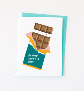 Chocolate Snap card
