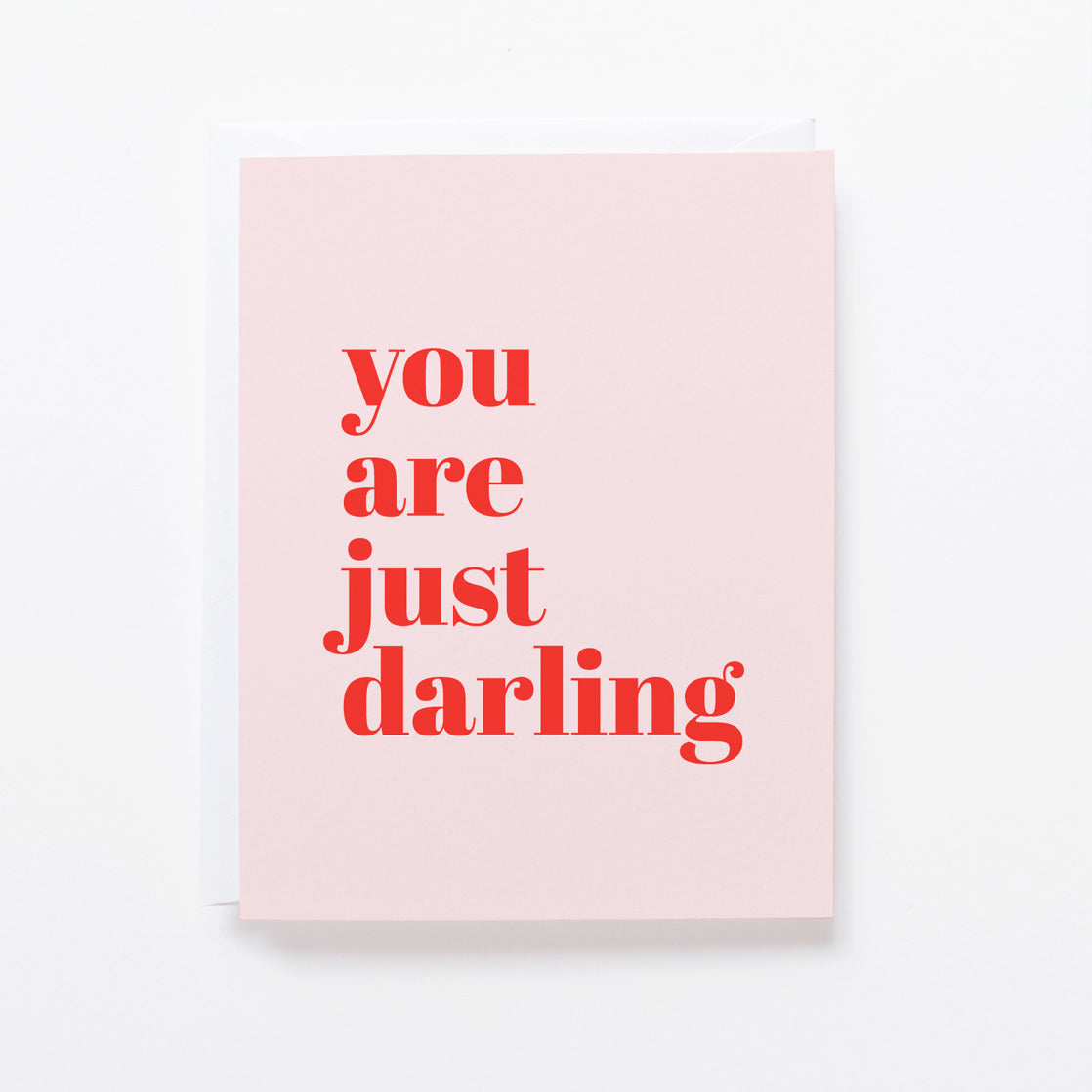 Just Darling card