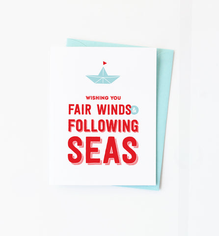 Fair Winds & Following Seas card