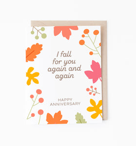Fall for You anniversary card
