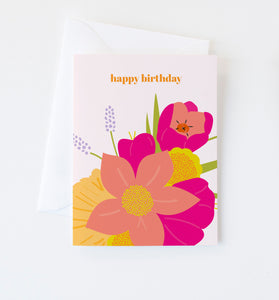 Floral Birthday card
