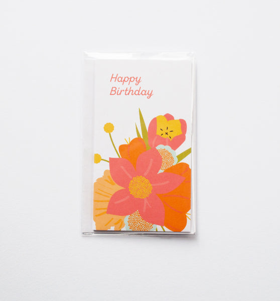 Floral Birthday mini card
