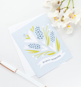 Deepest Sympathy floral greeting card