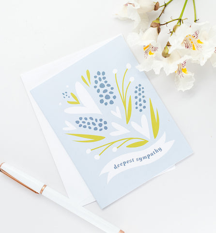 Deepest Sympathy floral greeting card ~ NEW COLOR!