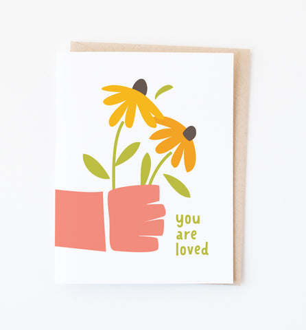 Handheld Flowers card