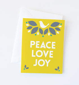 Holiday Dove holiday greeting card