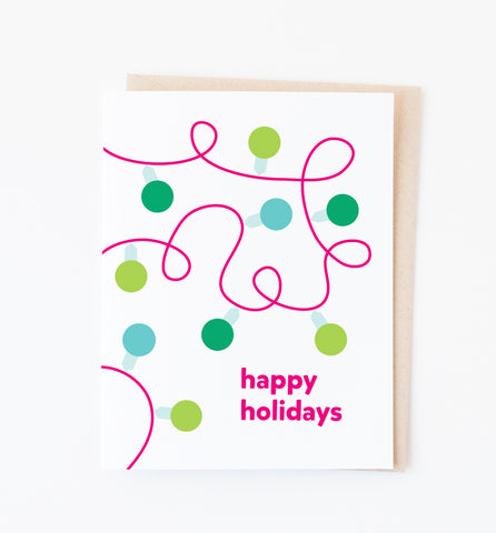 Holiday Lights card