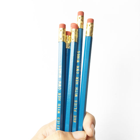 She Flies With Her Own Wings pencil set