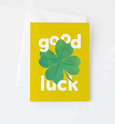 Lucky Clover card