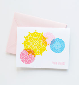 Summer Mandala thank you card