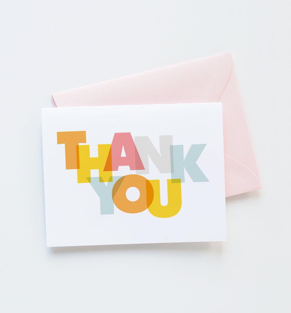 Modern thank you greeting card graphic anthology modern thank you greeting card m4hsunfo