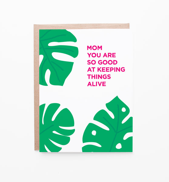 Mother's Day Monstera card