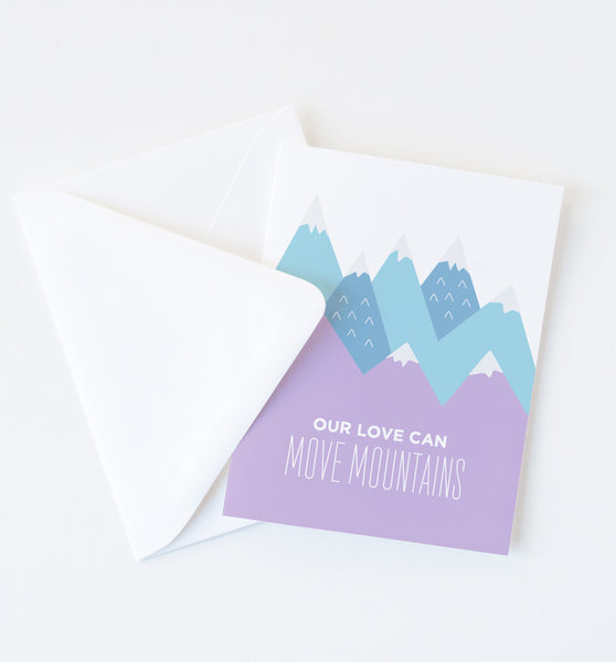 Move Mountains greeting card